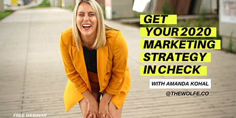 FREE Training: Get your 2020 Marketing Strategy in Check tickets