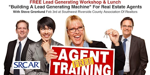 Free Lead Generating Workshop and Lunch For Real Estate Agents