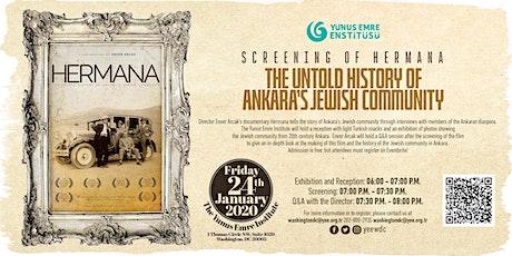 Screening of Hermana: The Untold History of Ankara's Jewish Community tickets