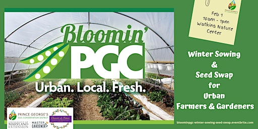 Bloomin' PGC Growers Workshop:  Winter Sowing & Seed Swap for Urban Farmers
