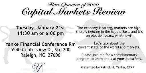 1Q20 Capital Markets Review
