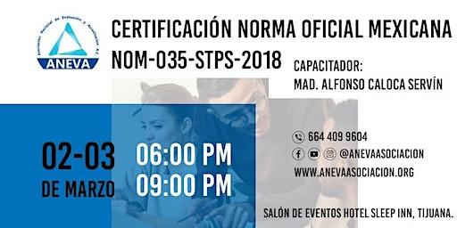 CERTIFICACION Norma Oficial Mexicana NOM-035-STPS-2018