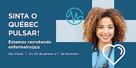 Sessão de informação - O Québec recruta enfermeiros(as) ingressos