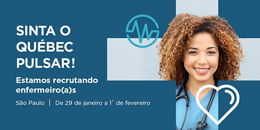 Sessão de informação - O Québec recruta enfermeiros(as)