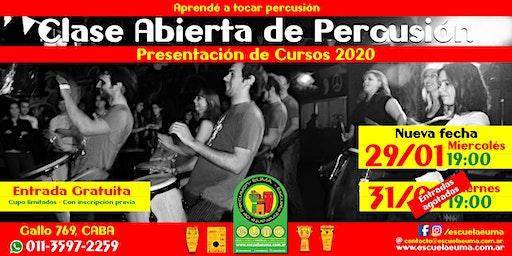 Clase Abierta de Percusión - Escuela EUMA - Presentación Curso 2020 (Por entradas agotadas - Nueva Fecha!!!)