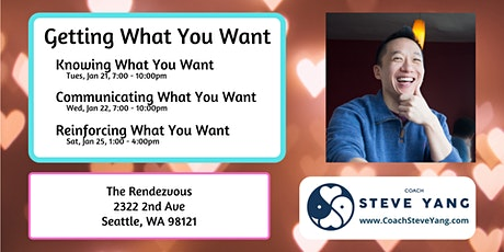 Relationship Workshops: Getting What You Want (Seattle) tickets