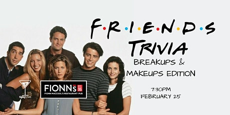 Friends Trivia - Feb 25, 7:30pm - Fionn MacCool's Kitchener tickets