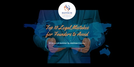 BCLA lunch seminar: Top Ten Legal Mistakes for Founders to Avoid tickets