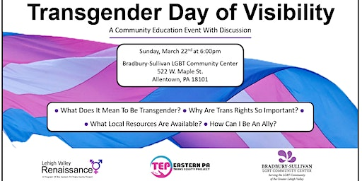 Transgender Day of Visibility Community Event