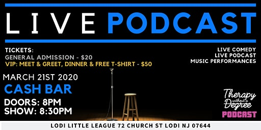 Live Podcast | Therapy Without a Degree | Live Comedy & Music Performances