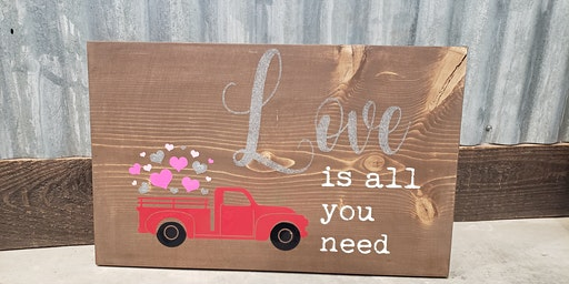 Valentines Painting Party -Truck Sign