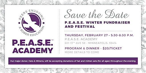 P.E.A.S.E. Winter Fundraiser - 2020