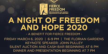 Fierce Freedom's Night of Freedom & Hope 2020 tickets