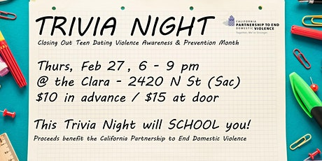 Back-to-School Trivia Night tickets