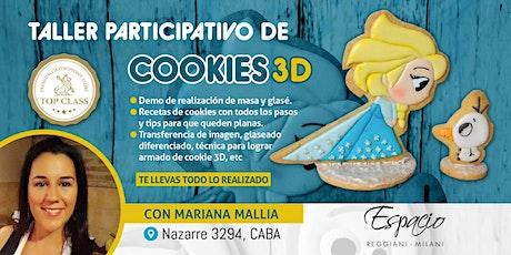 Taller Participativo de COOKIES 3D FROZEN con MARIANA MALLIA entradas
