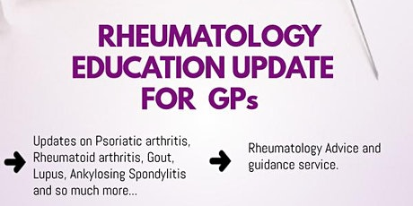 Rheumatology education update event tickets