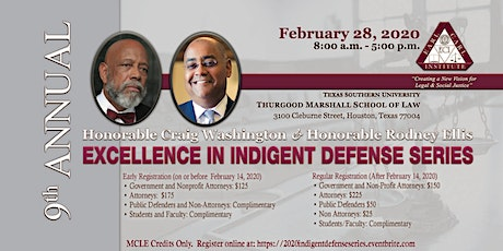 9th Annual Hon. Craig Washington & Harris County Commissioner Rodney Ellis Excellence in Indigent Defense Series tickets
