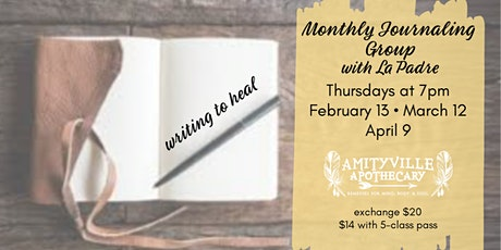 Writing to Heal: a Monthly Journaling Group tickets