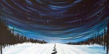 Wine + Paint: Cold, Starry Night