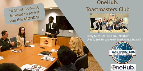 """One"" Leadership Series - OneHub. Toastmasters Club - Jan.27, 2020 tickets"