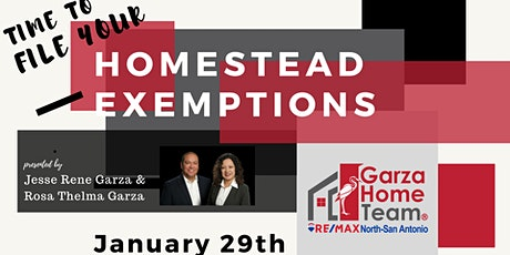 Time to File Your Homestead Exemptions with The Garza Home Team tickets