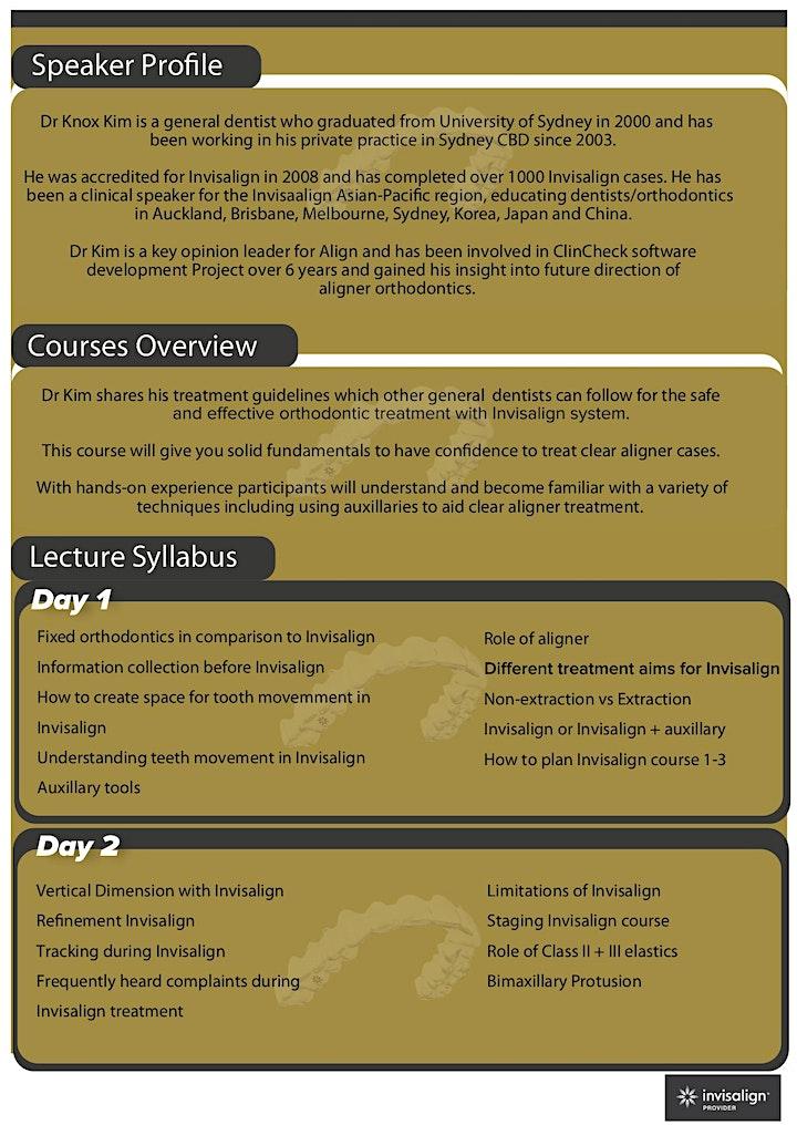 Invisalign Elite Course - Dr Knox Kim [Perth] image