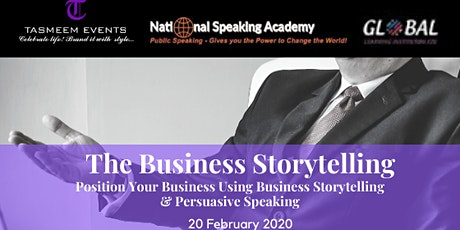 Position Your Business Using Business Storytelling & Persuasive Speaking tickets