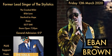 Eban Brown -  Former Lead Singer of The Stylistics tickets