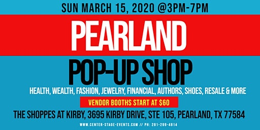 Pearland Pop-Up Shop (Sun March 15)