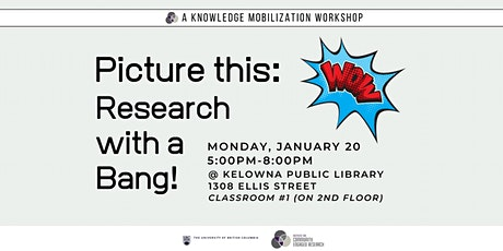 ICER Knowledge Mobilization Workshop: Picture This - Research with a Bang!  tickets