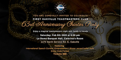 First Oakville Toastmasters 63rd Anniversary Charter Party tickets