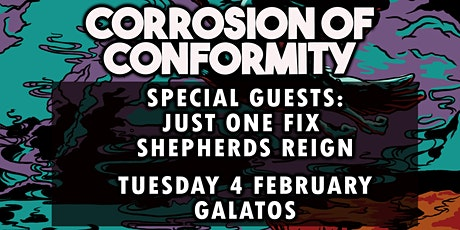 CORROSION OF CONFORMITY - Shepherds Reign - Support discounted tickets tickets