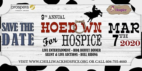Chilliwack Hospice Society - 9th Annual Hoedown for Hospice tickets