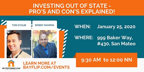 Investing out of State - Pro's and Con's EXPLAINED! tickets