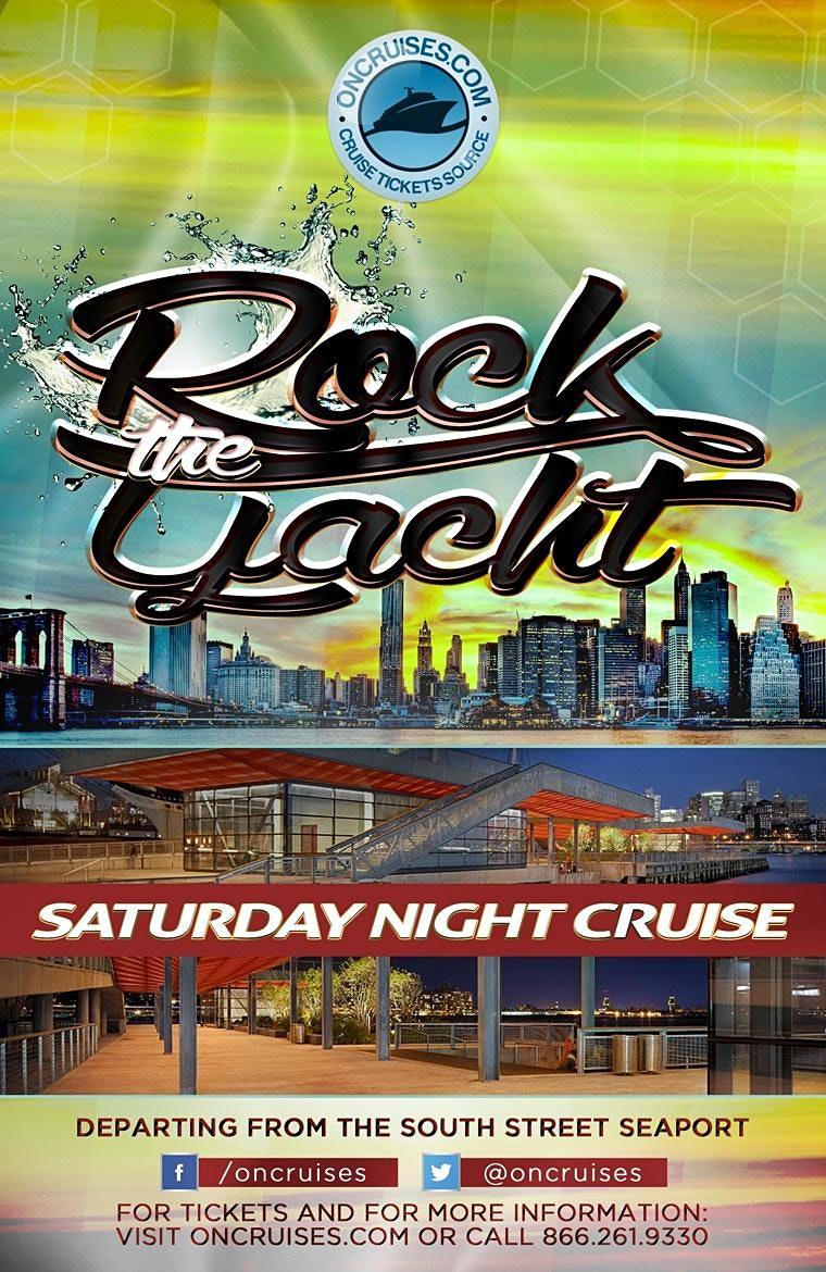 Rock the Yacht Saturdays! New York City Party Cruise 2020