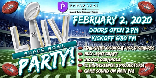 SUPER BOWL LIV PARTY! at Paparazzi OBX!