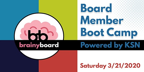 Brainy Board - Board Member Boot Camp tickets