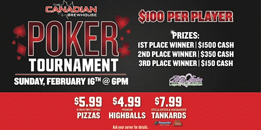 West Saskatoon  Poker Tournament!