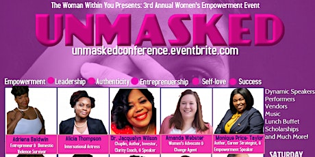 """The Woman Within You Presents: """"Unmasked"""" Women's Symposium tickets"""