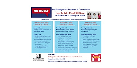 No Bully Workshops tickets