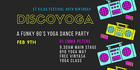 Discoyoga 80's yoga dance party tickets
