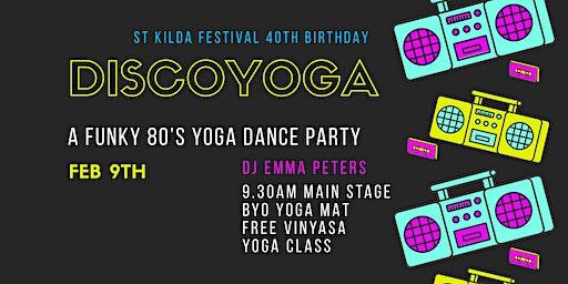 Discoyoga 80's yoga dance party