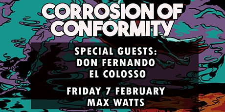CORROSION OF CONFORMITY - El Colosso - Support discounted tickets tickets