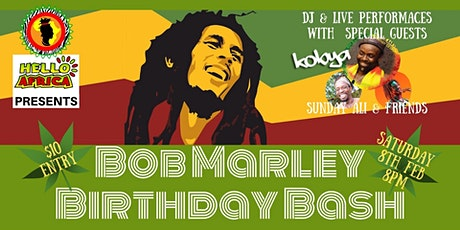 Bob Marley's Birthday Bash tickets