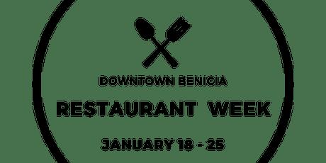 Downtown Benicia Restaurant Week tickets