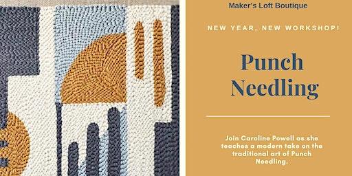 Punch Needle Workshop at Maker's Loft
