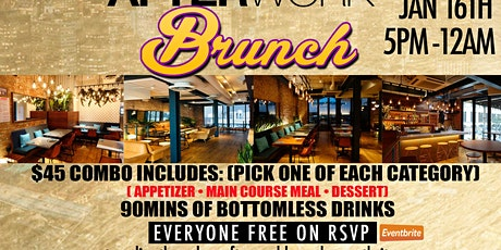 AFTERWORK THURSDAYS BRUNCH • EVERYONE FREE ON RSVP • AFROBEATS • REGGAE • TRAP • R&B • HOOKAH tickets