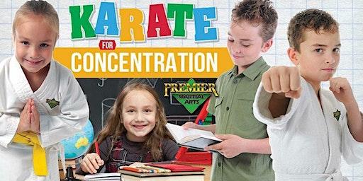 FREE Karate for Concentration Workshop (Ages 5-12)