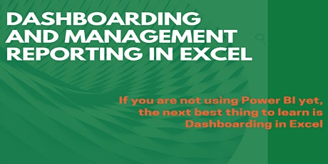 Dashboarding and Management Reporting in MS Excel tickets