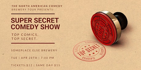 Super Secret Comedy Show at SomePlace Else Brewery tickets